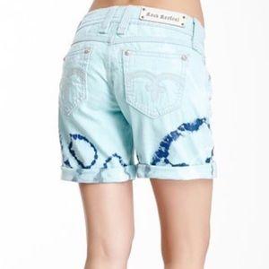Rock Revival jean tie dye boyfriend shorts size 29